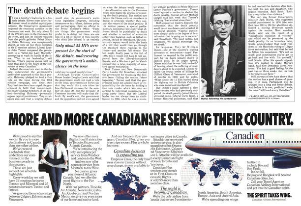 Article Preview: The death debate begins, May 1987 | Maclean's