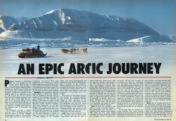 Article Preview: AN EPIC ARCTIC JOURNEY, May 1987 | Maclean's