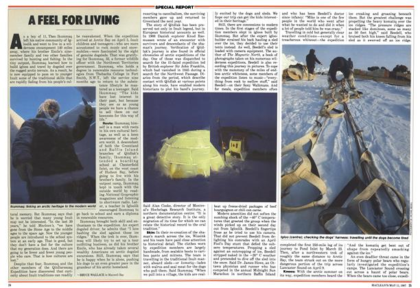 Article Preview: A FEEL FOR LIVING, May 1987 | Maclean's