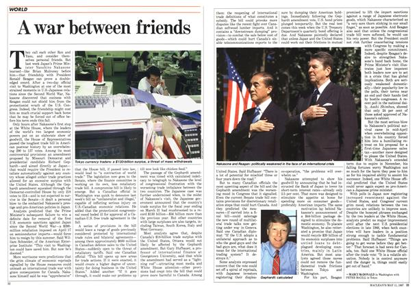 Article Preview: A war between friends, May 1987 | Maclean's
