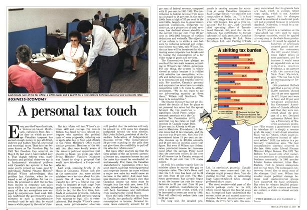 Article Preview: A personal tax touch, May 1987 | Maclean's