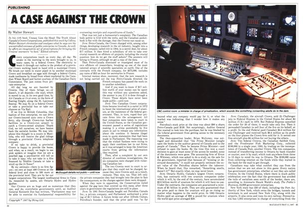 Article Preview: A CASE AGAINST THE CROWN, May 1987 | Maclean's