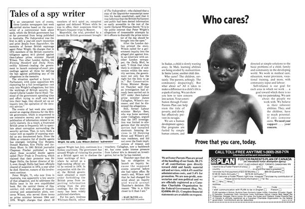 Article Preview: Tales of a spy writer, May 1987 | Maclean's