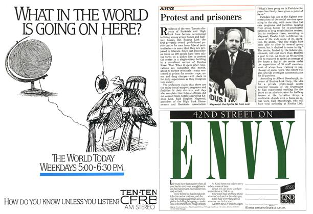 Article Preview: Protest and prisoners, May 1987   Maclean's