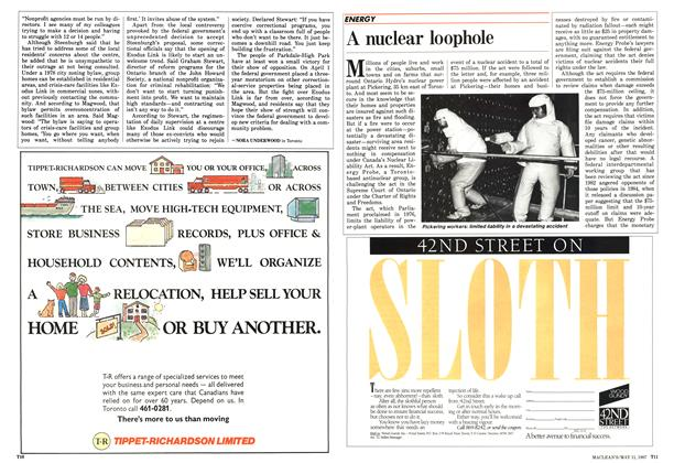 Article Preview: A nuclear loophole, May 1987 | Maclean's