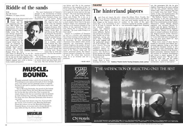 Article Preview: The hinterland players, May 1987 | Maclean's