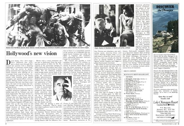 Article Preview: Hollywood's new vision, May 1987 | Maclean's