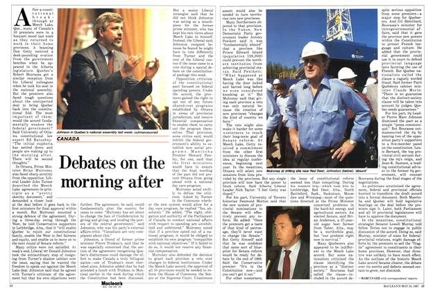 Article Preview: Debates on the morning after, May 1987 | Maclean's