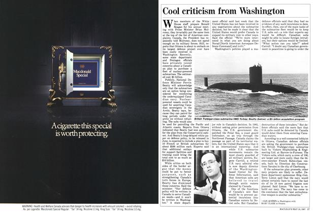 Article Preview: Cool criticism from Washington, May 1987 | Maclean's