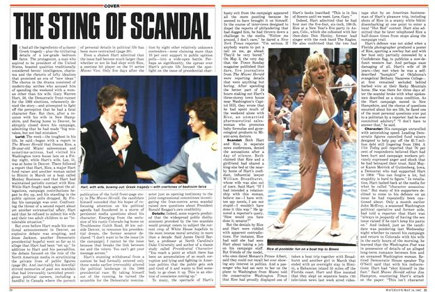 Article Preview: THE STING OF SCANDAL, May 1987 | Maclean's