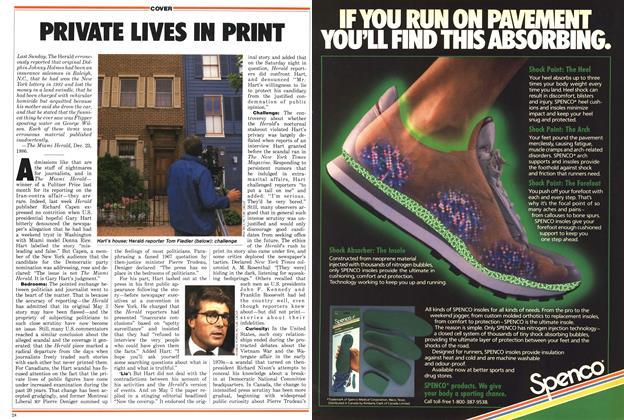 Article Preview: PRIVATE LIVES IN PRINT, May 1987 | Maclean's