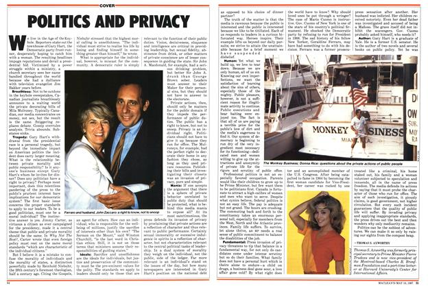 Article Preview: POLITICKS AND PRIVACY, May 1987 | Maclean's