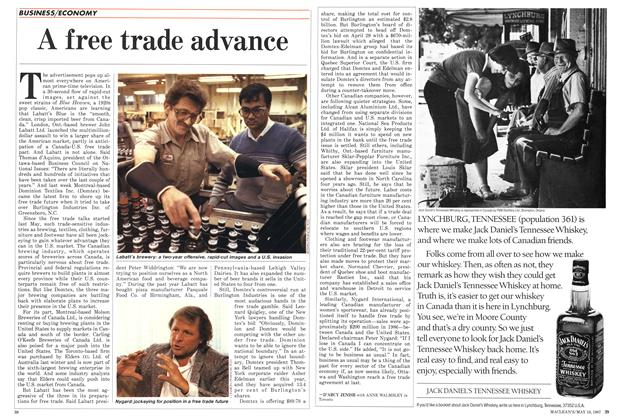 Article Preview: A free trade advance, May 1987 | Maclean's