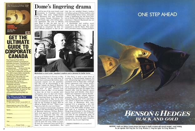 Article Preview: Dome's lingering drama, May 1987 | Maclean's