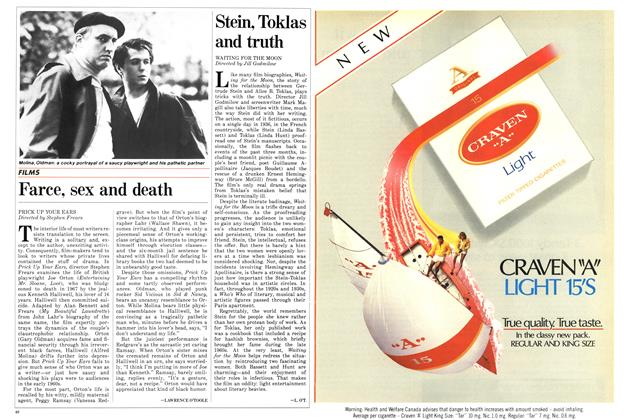 Article Preview: Farce, sex and death, May 1987 | Maclean's