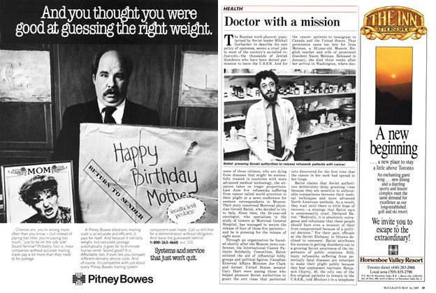 Article Preview: Doctor with a mission, May 1987 | Maclean's