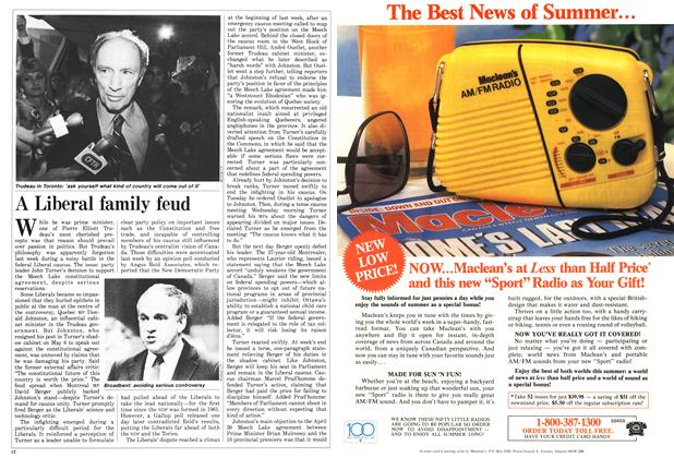 Article Preview: A Liberal family feud, May 1987 | Maclean's