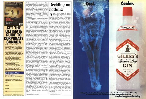Article Preview: Deciding on nothing, May 1987 | Maclean's