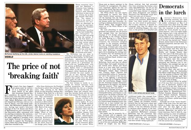 Article Preview: The price of not 'breaking faith', May 1987 | Maclean's