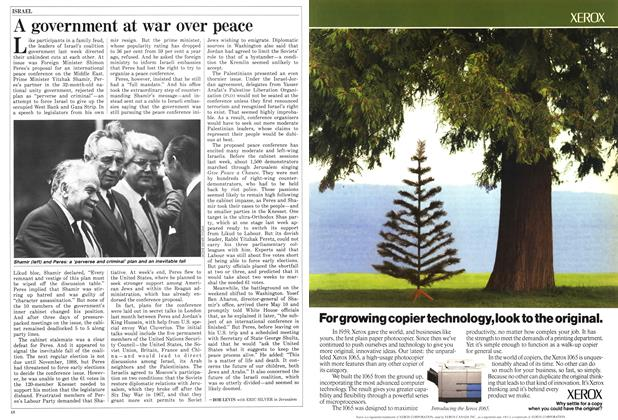 Article Preview: A government at war over peace, May 1987   Maclean's