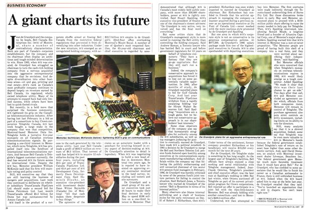 Article Preview: A giant charts its future, May 1987 | Maclean's
