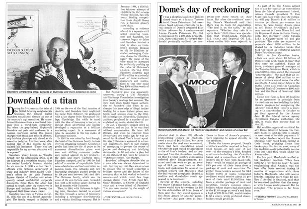 Article Preview: Downfall of a titan, May 1987 | Maclean's
