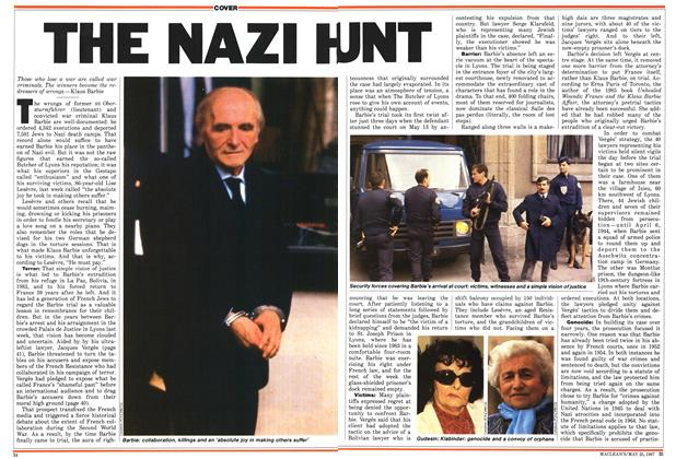 Article Preview: THE NAZI HUNT, May 1987 | Maclean's