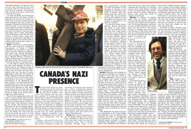 Article Preview: CANADA'S NAZI PRESENCE, May 1987 | Maclean's