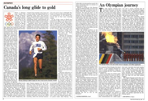 Article Preview: Canada's long glide to gold, May 1987 | Maclean's