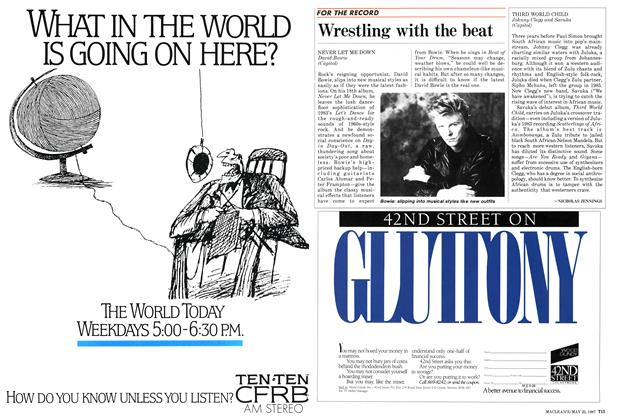 Article Preview: Wrestling with the beat, May 1987 | Maclean's