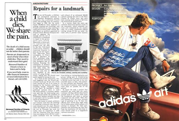Article Preview: Repairs for a landmark, May 1987 | Maclean's