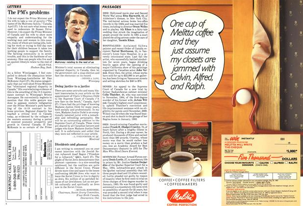 Article Preview: The PM's problems, May 1987 | Maclean's