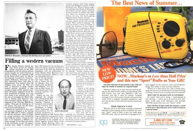Article Preview: Filling a western vacuum, June 1987 | Maclean's