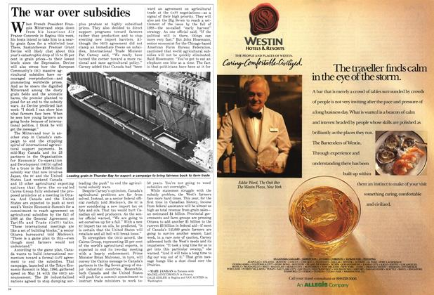 Article Preview: The war over subsidies, June 1987 | Maclean's