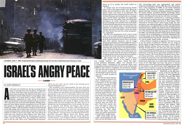 Article Preview: ISRAEL'S ANGRY PEACE, June 1987 | Maclean's