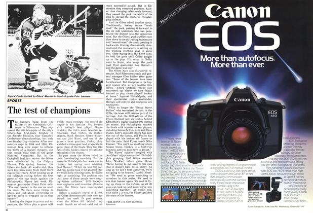 Article Preview: The test of champions, June 1987 | Maclean's
