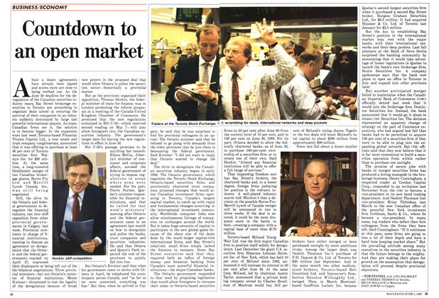 Article Preview: Countdown to an open market, June 1987 | Maclean's