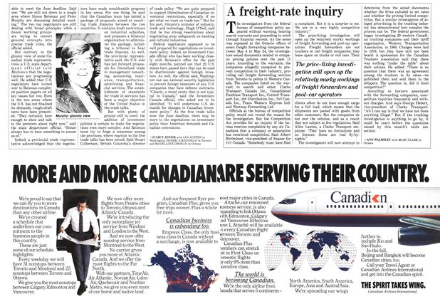 Article Preview: A freight-rate inquiry, June 1987 | Maclean's