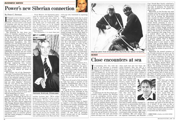 Article Preview: Power's new Siberian connection, June 1987 | Maclean's