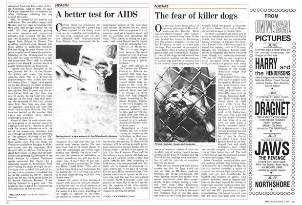 Article Preview: The fear of killer dogs, June 1987 | Maclean's
