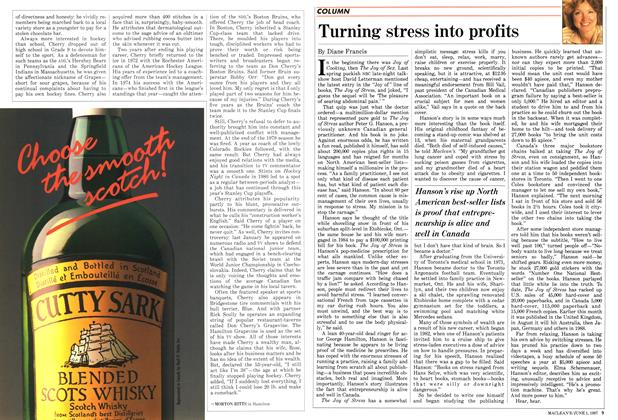 Article Preview: Turning stress into profits, June 1987 | Maclean's