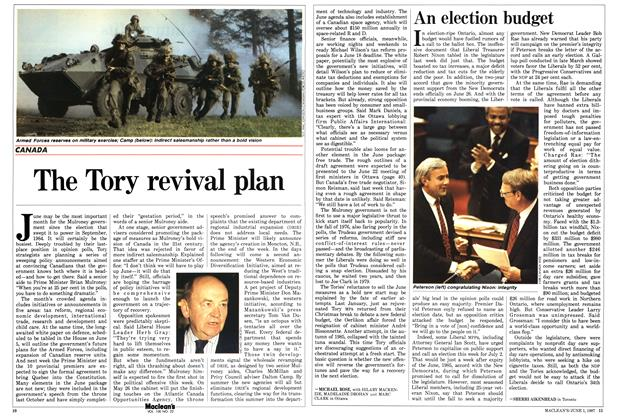 Article Preview: The Tory revival plan, June 1987 | Maclean's