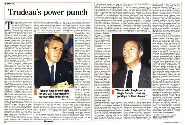 Article Preview: Trudeau's power punch, June 1987 | Maclean's