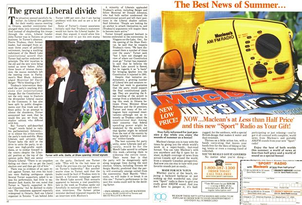 Article Preview: The great Liberal divide, June 1987 | Maclean's