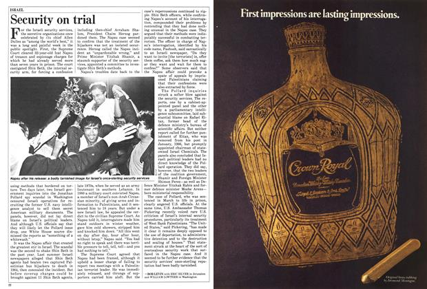 Article Preview: Security on trial, June 1987 | Maclean's