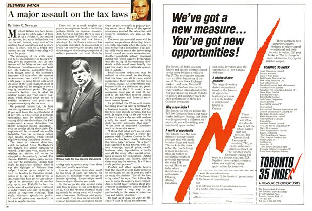 Article Preview: A major assault on the tax laws, June 1987 | Maclean's