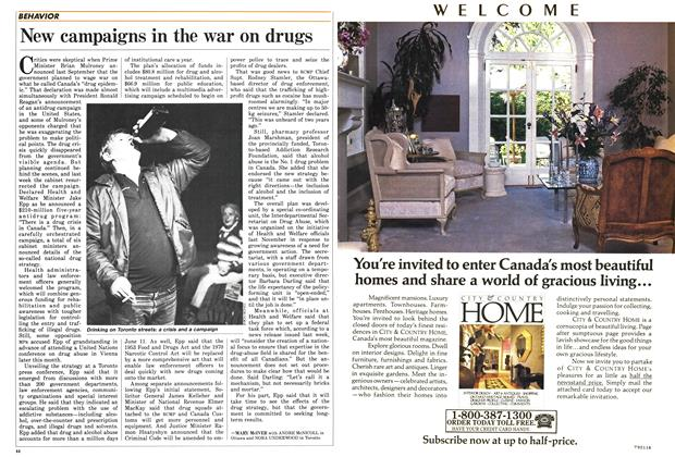 Article Preview: New campaigns in the war on drugs, June 1987 | Maclean's