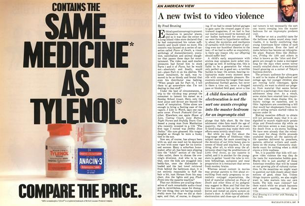 Article Preview: A new twist to video violence, June 1987 | Maclean's