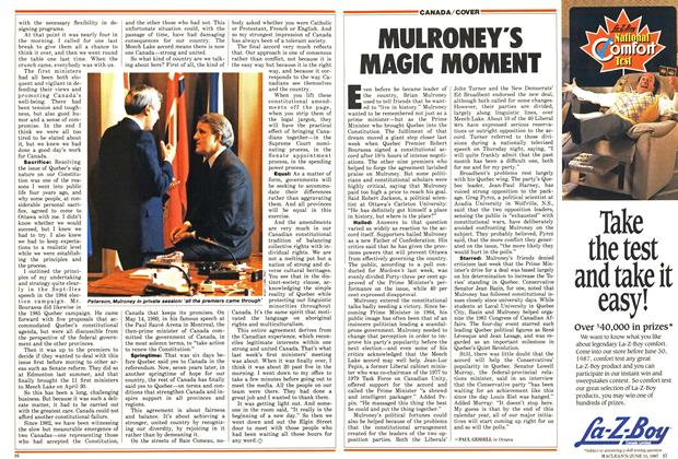 Article Preview: MULRONEY'S MAGIC MOMENT, June 1987 | Maclean's
