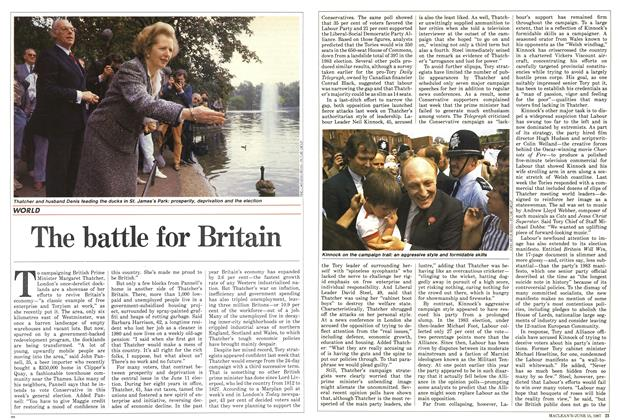 Article Preview: The battle for Britain, June 1987 | Maclean's